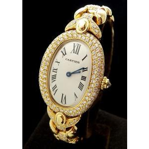 カルティエ Cartier K18YG ベニュワール ダイヤ入り WB5004GT|shop-sakae