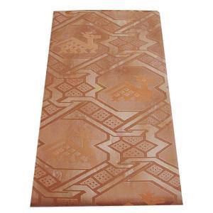 【正絹 袋帯】 B111 西陣織 有栖川の鹿さんの織柄 しっとりした品のある装い袋帯|shop-sakae