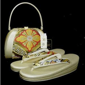 新品 沙織 草履バッグセット 正絹 西陣織 パールトン加工済み shop-sakae
