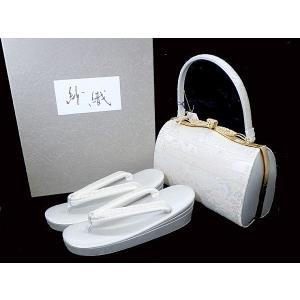 沙織 草履バッグセット パールトン加工 西陣織/印伝  防カビ 和装小物 shop-sakae