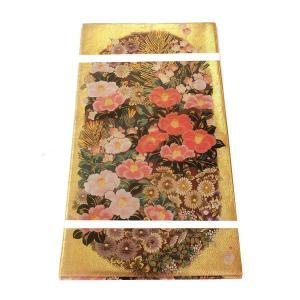 礼装用袋帯 金地に美しく艶やかな椿の織柄 未使用 仕立上がり  送料無料 訪問着 付け下げ 色無地 色留袖に|shop-sakae