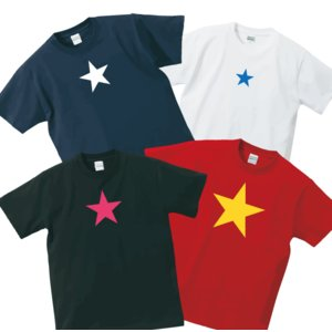 StarTシャツ プリントカラーやデザインの大きさが選べます!|shop-seed