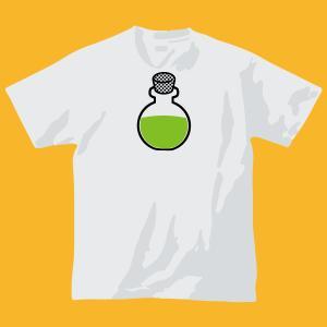 ハイ-ポーションTシャツ回復!【中】・ホワイト|shop-seed
