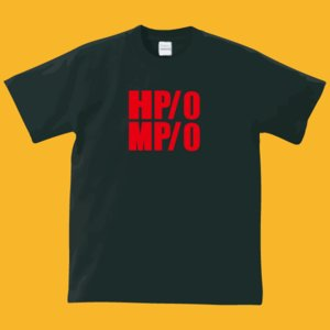HP・MP Tシャツ・ブラック・プリントレッド・瀕死状態|shop-seed