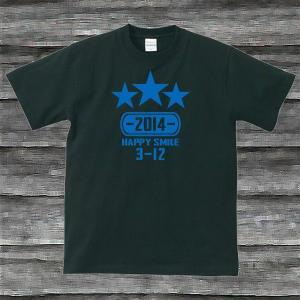 K'sお誕生日TシャツブラックTypeaPロイヤルブルー|shop-seed
