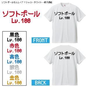 ソフトボールなんレベ?Tシャツ・ホワイト・吸汗速乾です、 アナタの今のレベルは、なんレベですか? オ...