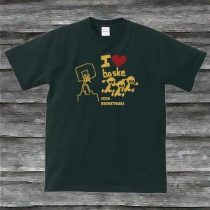 I LOVE BASKE TシャツブラックG|shop-seed