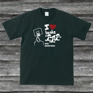 I LOVE BASKE TシャツブラックH|shop-seed