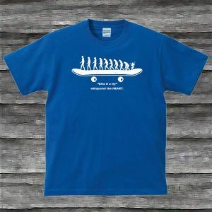 SK8.EvolutionTシャツロイヤルブルー|shop-seed