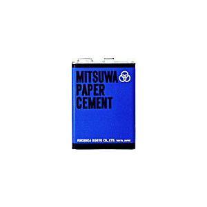 ミツワ ペーパーセメント Wコート(両面塗り) 4L缶 3800ml|shop-seibu