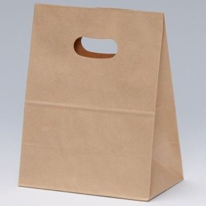 小さいロット販売の手提げ袋・紙袋です  一枚あたり 40.26 円と業務用におすすめです   無地で...