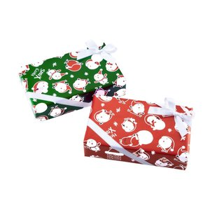 包装紙 豆サンタ(クリスマス) 四六半才 レッド 200枚|shop-seibu