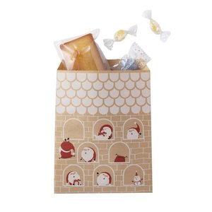 平袋 F12 クリスマス豆サンタ紙袋 1000枚|shop-seibu
