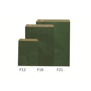 平袋(紙袋) エメラルド(緑) F18(中) 2,000枚|shop-seibu