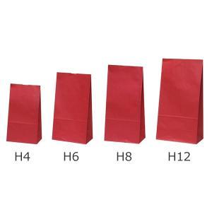 ハイバッグ(角底袋) ルージュ(赤) H4(小) 2,000枚|shop-seibu
