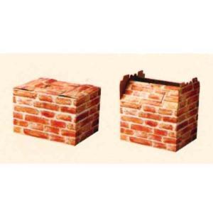 紙箱 インテリアボックス レンガ 20枚 shop-seibu