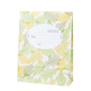 宅配袋 ディアBAG ボタニカル リーフ(黄緑) 100枚 shop-seibu