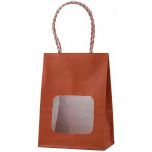 ウインドウミニバッグ(窓付手提げ袋) タンジェリン(小) 100枚|shop-seibu