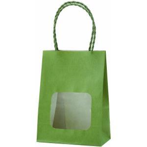 ウインドウミニバッグ(窓付手提げ袋) グリーンティ (小) 100枚|shop-seibu