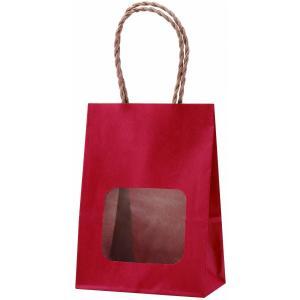 ウインドウミニバッグ(窓付手提げ袋) ルージュ (小)  100枚|shop-seibu
