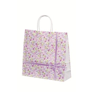 手提げ袋 HX 紫花(花柄) (中) 200枚|shop-seibu