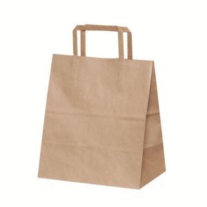 手提袋(手提げ紙袋) 安いH平2214 未晒 無地 巾220×マチ140×高さ250mm(200枚セット) shop-seibu