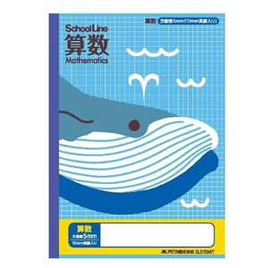 日本ノート(アピカ) 科目名入りスクールライン 算数 (SLS10MT) shop-shiba-kyoto