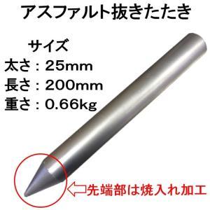 アスファルトに穴をあける!【スカット91】・【スカットSP】・【スカットSF】のアスファッルト面への設置に!アスファルトの下穴用のたたき|shop-shinkou