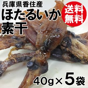 ほたるいか素干 200g 40g×5袋 送料無料 ホタルイカ ほたるいか イカ いか 烏賊|shop-syukuin