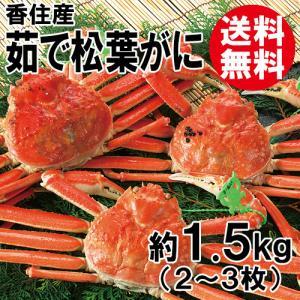 香住産・茹で松葉がに(2〜3枚)(約1.5kg)(大きさ不揃い)[送料無料](カニ かに 蟹 ズワイガニ ずわいがに 松葉ガニ 松葉蟹 お取り寄せ 産地直送) shop-syukuin