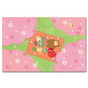 かわいいポストカード 桜でお花見 春の絵葉書|shop-wadouraku