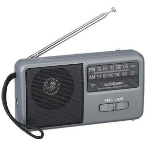 OHM AM/FM コンパクトポータブルラジオ [RAD-F1771M] シルバー shop-white