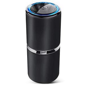 SEZAC空気清浄機 車載空気清浄機 小型空気清浄機 卓上空気清浄機 イオン発生器 濃度1000万個 USBポート付き 花粉対策 空気の塵/ shop-white