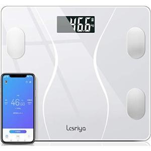 体重計 体組成計 体脂肪計 スマホ連動 Bluetooth対応 スマートスケール ヘルスメーター 体重/体脂肪率/体水分率/骨量/基礎代謝量|shop-white