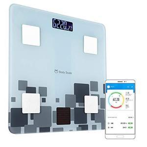 体脂肪計 体組成計 体重計 ボディスケール スマートスケール Bluetooth対応 USB充電式 ソーラー充電式 スマホ連動 ヘルスメータ|shop-white