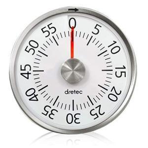 dretec(ドリテック) ダイヤルタイマー 最大セット時間60分 タイマー 勉強 料理 アナログ式 電池不要 簡単操作 マグネット付き T|shop-white