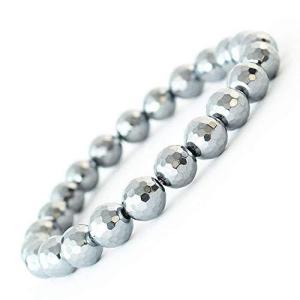 One&Only Jewellery テラヘルツ 鉱石 8mm ブレスレット バングル (ミラーカッ/LL) shop-white