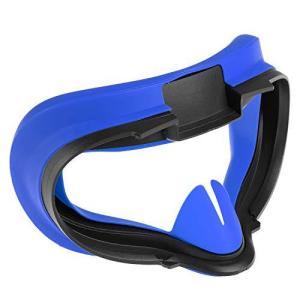 Newzerol For Oculus Quest 2 マスク VR アイマスク 防汗 光漏れ防止 柔らかい 洗いやすい シリコン (ブルー|shop-white
