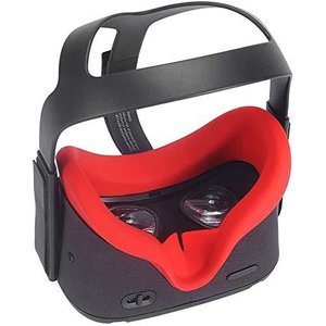 Oculus Quest アイマスク, Oculus Quest VR シリコンカバー ,ゴーグル シリコンアイマスク 洗えるアイマスクパッ|shop-white