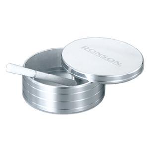RONSON(ロンソン) アルミ製灰皿 蓋付き 日本製 シルバー RA10001|shop-white