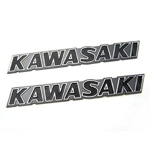 (トクトヨ)Tokutoyo カワサキ KAWASAKI 立体エンブレム ブラック 2枚set|shop-white