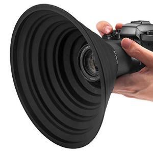 レンズフード 忍者フード 52mm-67mmレンズ用 夜景撮影 窓ガラスの映り込みを防止 簡単装着 一眼レフ 望遠レンズ 動画撮影 柔軟性 shop-white