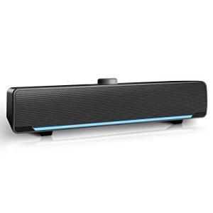 PCスピーカー サウンドバー Aufine USB電源式 3.5mm接続 デュアルドライブユニット 360度ステレオ 高音質 パソコン/デス shop-white