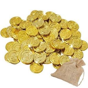 フェリモア イミテーションコイン 海賊金貨 おもちゃ 玩具 宝探し ゲーム 手品 インテリア 麻袋付 (300枚セット) shop-white