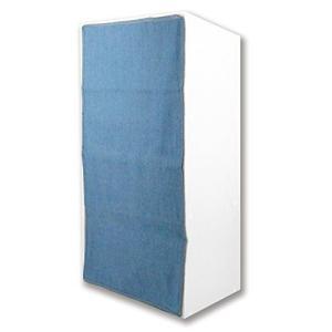 東洋ケース カラーボックスカーテン たて88×よこ42cm ライトブルー LSM2-CBC-LB|shop-white