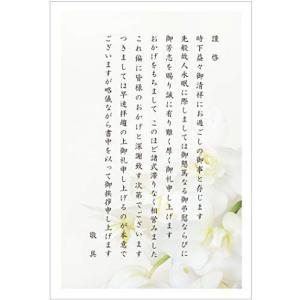 会葬礼状ハガキ 10枚 胡蝶蘭切手官製はがき〈KR302-10〉法事 法要 挨拶状 葬儀お礼はがき shop-white