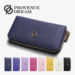財布 レディース Provence Dream 長財布 本革 ブランド 安い ラウンドファスナー ジップアラウンド  かわいい ブラック 大きい 大容量 秋の行楽 PD32