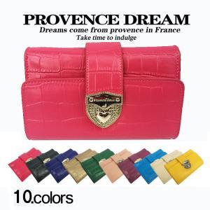 財布 折り財布 レディース Provence Dream クロコダイル ピンク 大容量 通勤 可愛い 人気 通学 ビッグサイズ 小銭 PD55