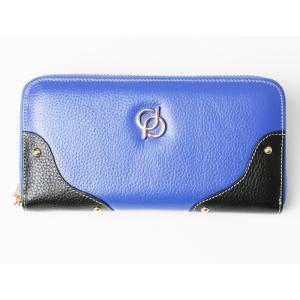財布 レディース 長財布 ラウンドファスナー 大容量 人気 ブランド   PD36 カラー ブルー|shop-ybj