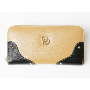 財布 レディース 長財布 ラウンドファスナー 大容量 人気 ブランド   PD36 カラー キャメル|shop-ybj